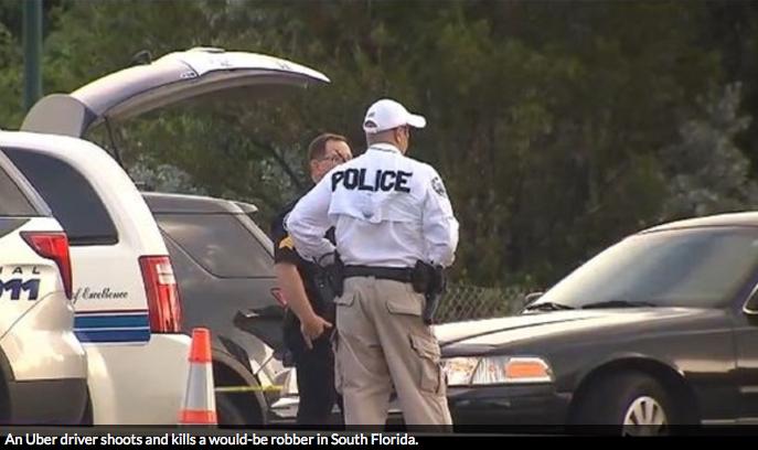Uber Driver Defends Self & Passenger, Stops Robber Dead