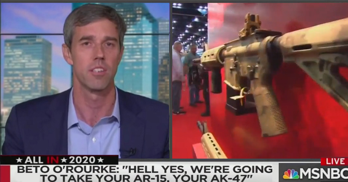 Beto O'Rourke Named 'AR-15 Salesman of the Year' by NRA